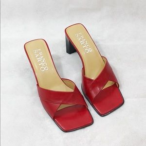 Franco Sarto red leather heels